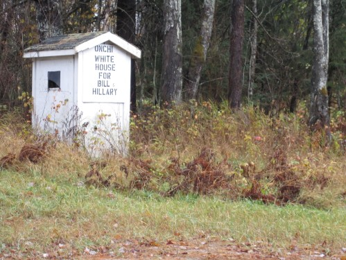 Bill and Hillary outhouse